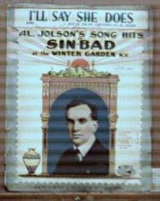 Al Jolson Sinbad I'll Say She Does 1918