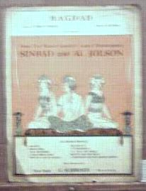 Al Jolson Sinbad 1918 Bagdad Art Deco cover
