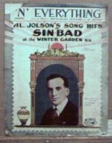 Al Jolson Sinbad 1918 N' Everything, Remick