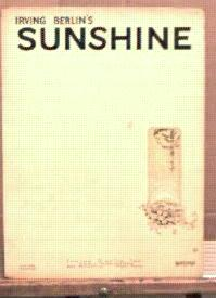 Irving Berlins's Sunshine 1928 Excellent