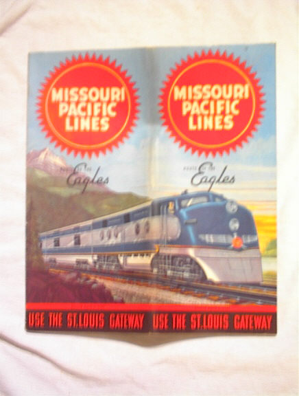 4/1/1947 MISSOURI PACIFIC LINES TIME CHART