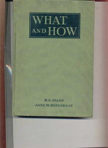 What And How/Milton Bradley Handwork  1911