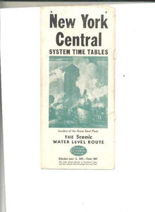 New York Central System Schedule/1947