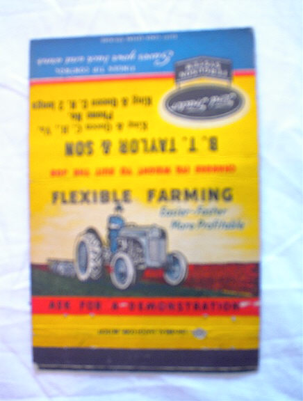 FORD TRACTOR FERGUSON SYSTEM MATCH BOOK