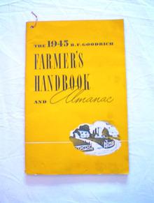 1945 FARMER'S HANDBOOK & ALMANAC B.F.GOODRICH