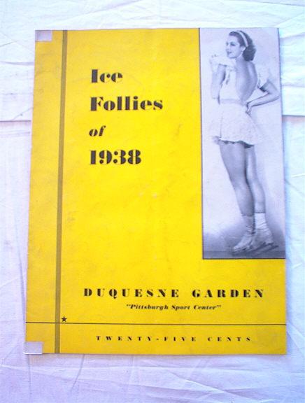 Ice Follies Of 1938 Dequesne Garden program