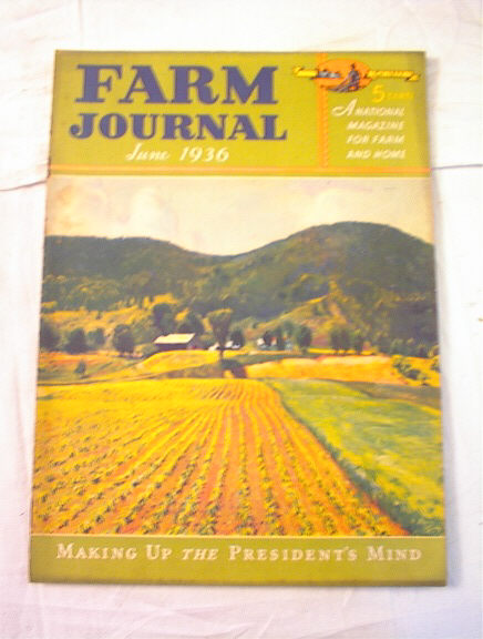 June,1936 Farm Journal nice illustrated cover