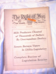 The Right Of Way,5/31,Milk Producers Cheated