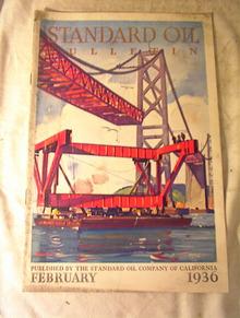 Standard Oil Bulletion,Feb 1936,GREAT COVER