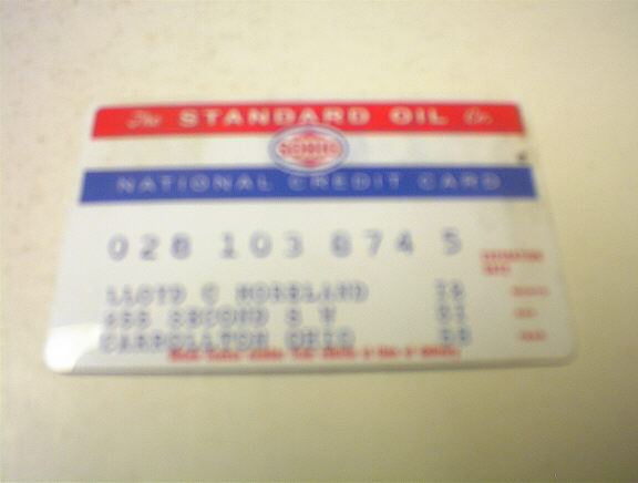1950's SOHIO National Credit Card