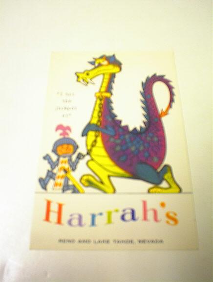 1960's HArrah's Reno & LAke Tahoe,Nevada
