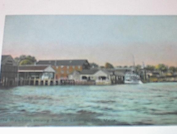 1908 The Waterfront,Steamer landings,Bath,Me