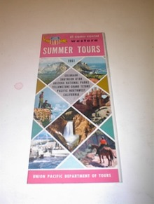 1961 UNION PACIFIC RAILROAD Summer Tours