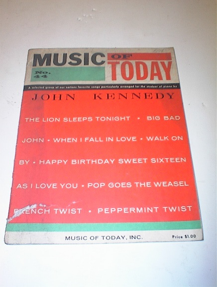 MUSIC of TODAY  John Kennedy,1961