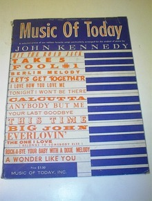 Music of Today John Kennedy 1961-62 No.43