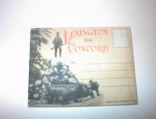 1940's Scenic Folder Lexington and Concord