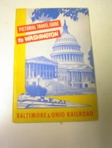 1954 Baltimore & Ohio Railroad Travel Guide