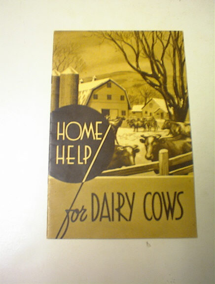 Home Help for Dairy Cows 1939-1940