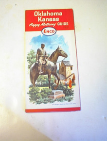 1964 ENCO Oklahoma Kansas Road Map!
