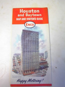 1964 ENCO,Houston and Baytown Road Map!