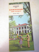 1964 STANDARD OIL Birmingham & Vicinity R.Map