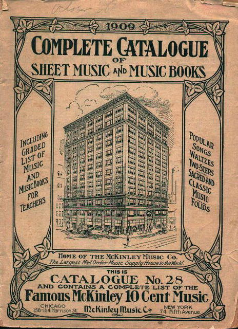 Music Catalog from 1909!