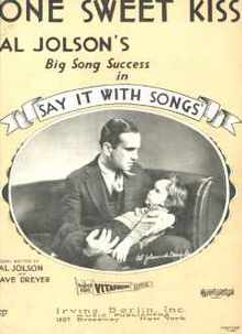Al Jolson One Sweet Kiss '29 Say It With Song