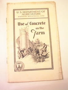 Farmers'Bulletin No.1772 Concrete on the Farm