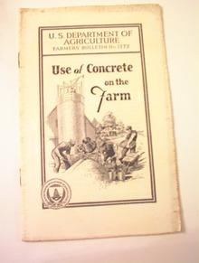 Farmers'Bulletin No.1772 Concrete on the Farm
