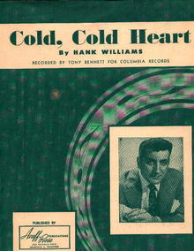 Cold Cold Heart By H.Williams, Sung by Tony B