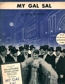 My Gal Sal by Paul Dresser! Rita Hayworth!
