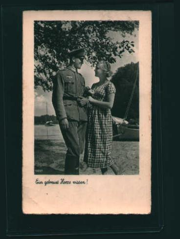 German Postcard from WWII-Censor Mark Visible