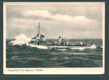 German Postcard from WWII-German Warship!