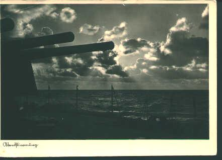 German Postcard from WWII-German Ship Guns!