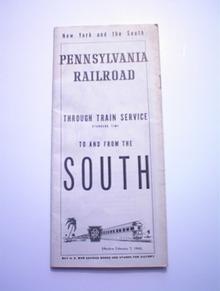 1943 Pennsylvania Railroad SOUTH Timestable
