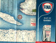 Map of Quebec by Fina Oil Company!