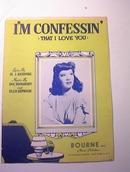 I'm Confessin' Lyric by Al J. Neiburg