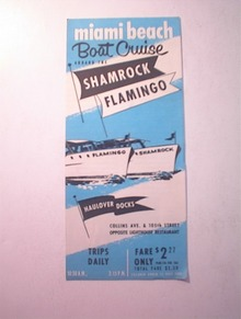 1950's Shamrock Flamingo Miami Beach Brochure