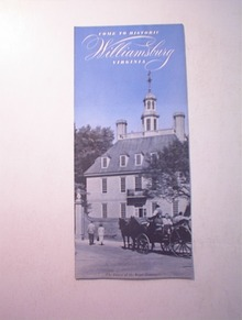 1950's Historic Williamsburg Virginia Brochur