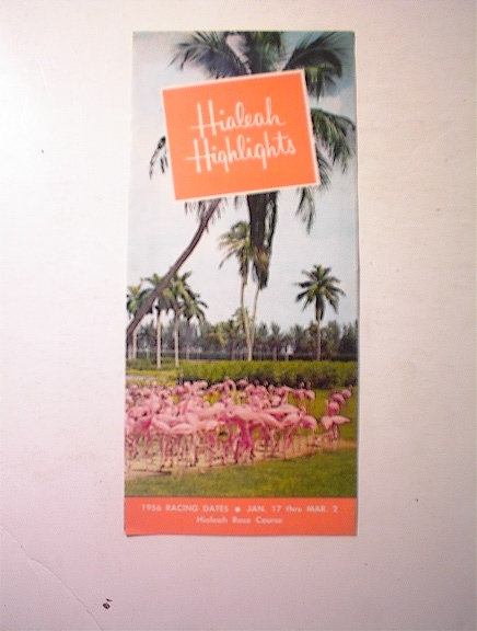 1956 Hialeah Highlights Race Course Brochure