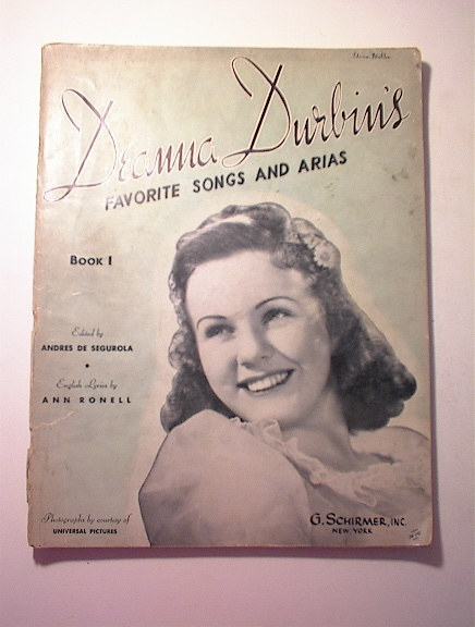 Deannz Durbin's Favorite Songs And Aias,1939
