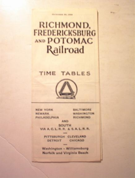 1960 Richmond,Fredericksburg,Potomac Rairoad