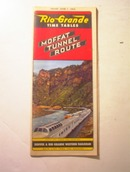 1953 Rio Grande Moffat Tunnel Route Timetable