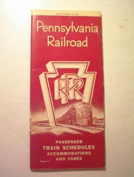 1964 Pennsylvania Railroad Time Table