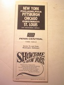 1968 Penn Central Time Table