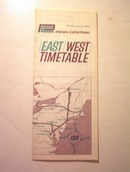 1970 Penn Central East/West/Time Table
