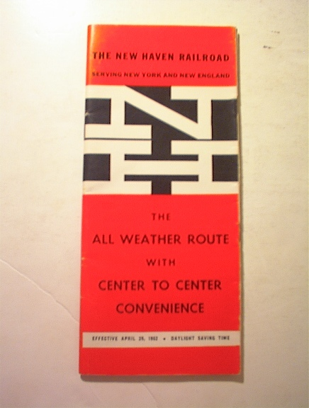 1962 The New Haven Railroad Time Table