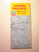 1968 Union Pacific Railroad Time Table