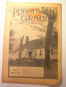Pennsylvania Farmer,1936,PATRIC HENRY's HOME