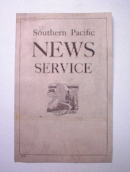1935 Southern Pacific News Service Order Form
